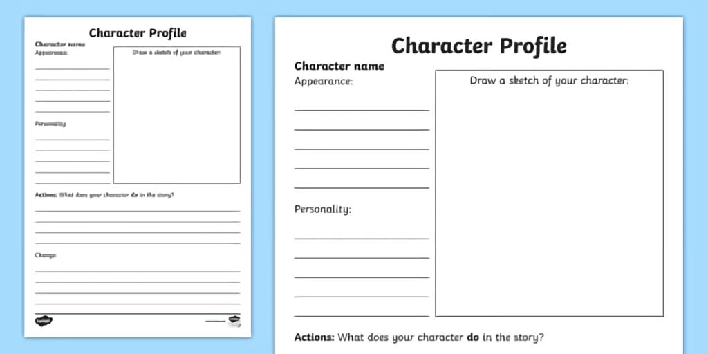 استخدام ملف الشخصيات في بناء الشخصيات